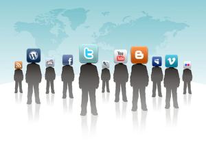 Personnes représentant chacune un réseau social